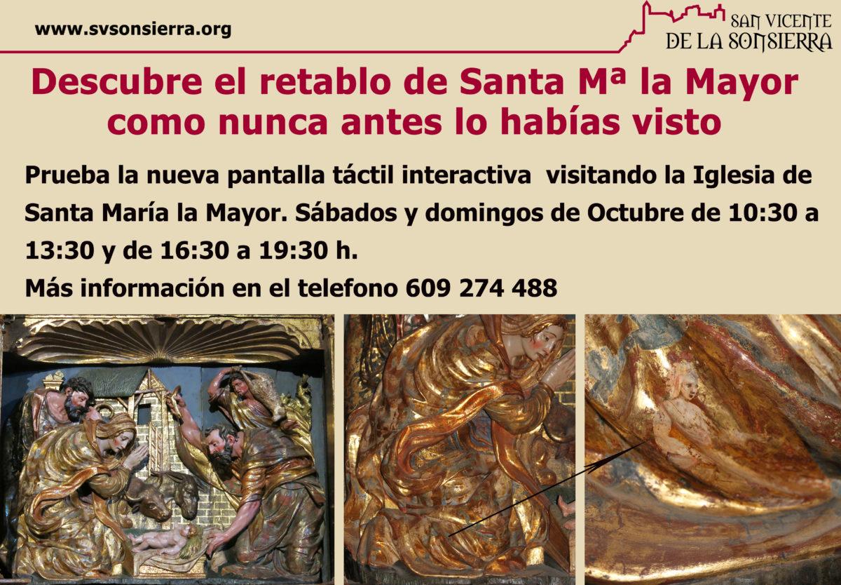 Descubre el retablo de Santa Mª de la Mayor cómo nunca lo habías visto